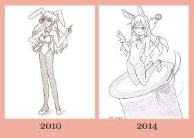 Before and now by chiisaichibi