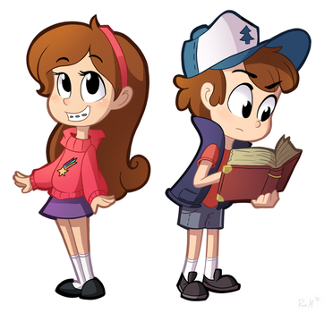 Day 21- Mabel and Dipper by Ric-M