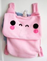 Kawaii Pink Unicorn Backpack by CosmiCosmos