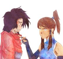 Wan and Korra by Rin171