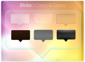 Blobs Classy and Glassy by magaxion