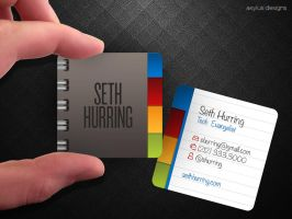 Mini Notebook Business Cards by axylus