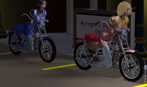 Motogirl Parking Only by Mertail