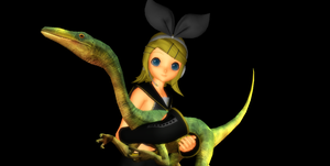 MMD Newcomer Compigigasaurus + DL by Valforwing