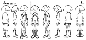 Jane - model sheet by S-C