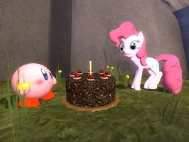 Cake for Kirby and Pinkie Pie by Shadow-the-Echidna