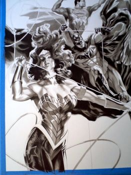DC Trinity in progress by felipemassafera