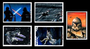 Star Wars Sketch Cards I by AstroVisionary