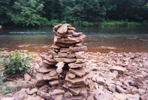 River Cairn by KaterinaTouche