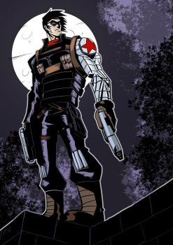 Winter Soldier in Color (Art by NAT) by Dkalban