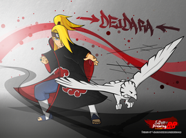 Deidara and Phenix Vector by SilverDrawing88
