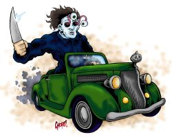 Mikey Likey Motor Car by MonsterInk