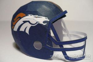 Broncos NFL Helmet Papercraft by Dil1880