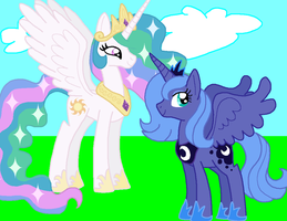 Request: Equestrian Sisters by HeartinaThePony