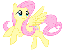 Fluttershy flies along by Klaufi