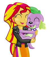 Sunny and Spike by Fluttershy626