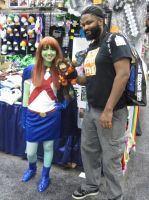 Miss Martian and Avarice Monkey by pa68