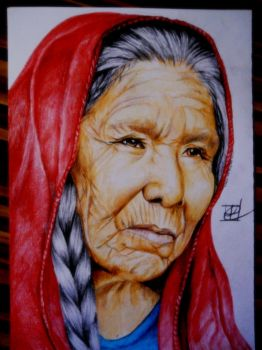 Old woman by DreamArtK