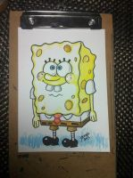 Spongebob in watercolor by JesseAcosta