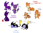 Skaunter, Cyndipix, and Skittinx Adopts-CLOSED by SkittyKittyCat