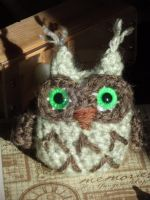A different owlet by Amigurumi-Lover