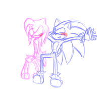 SonAmy doodle.. thing by prettiest-potato