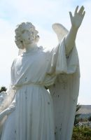 Mount Olivet Cemetery Guardian Angel 241 by Falln-Stock