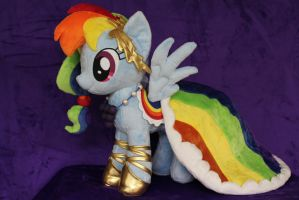 Rainbow Dash in Gala Dress by WhiteDove-Creations