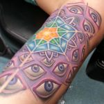 mandala tattoo with alex gray eyes by joshing88