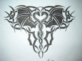My Dragon Tribal Tattoo. by DragonGirl-Lucky-13