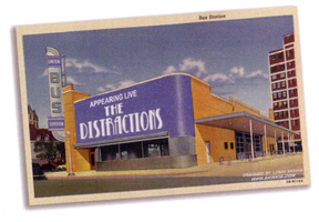 The Distractions Band Flyer 1 by LoranJSkinkis