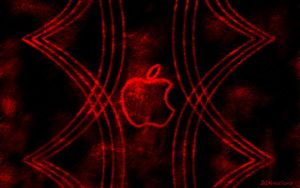 Apple Red Widescreen by DLKreations
