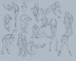 Figure Excercise with Ball point ( BIC ) by FUNKYMONKEY1945