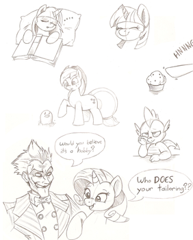 Pony Doodles by Joey-Darkmeat