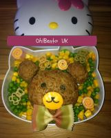 Teddy Bear's picnic bento by Kiisu23