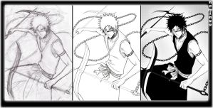 Hisagi in process by nominee84