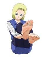 Android 18 and her delicious soles again by Kazutheking
