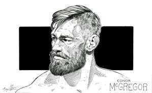 Conor McGregor (pen drawing) by theonlybriman47