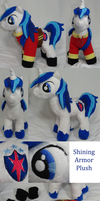 Kohaku-san's Shining Armor Plush by Cryptic-Enigma