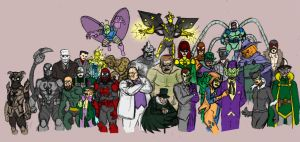 Amalgam's Spiderman Rogues by Needham-Comics