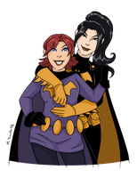 Batgirl and Batwoman by msciuto