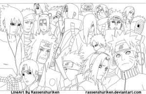 Naruto Party by Rassenshuriken