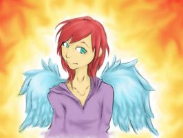 Sunset Angel by Philophobia13