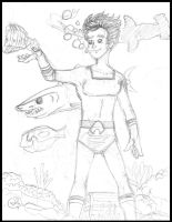 Aqualad: Passing the time by samayoa