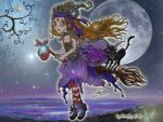 Moon at my Back by Dorothy-of-Oz