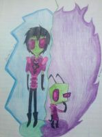 Zim and Zim, TV or Double Trouble? by Cutediepie