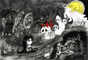 Lily and the ghosts by L-F-S