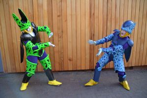 Perfect Cell and Imperfect Cell Cosplay (3) by masimage