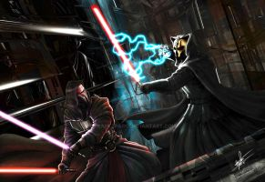 Darth Revan vs Darth Nihilus-C by clarkspark