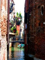 The Narrow Streets of Venice by Moonbird9